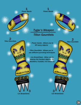 Tygar's Gauntlets by ThaMaJesticArtist