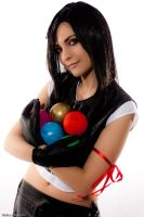 Tifa Lockhart with materia by Eyes-0n-Me