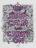 Keep Calm And Carry on by demeters