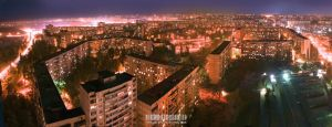 Kharkiv at night by kirkyLLla