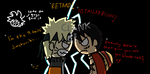 Naruto and Luffy sibling rivalry 2014 by Zunachina