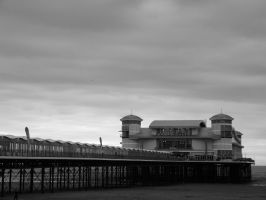 Newly built pier (BlackandWhite) by PhotographicJaydiee