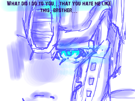 Optimus is sad by xtechnology-1