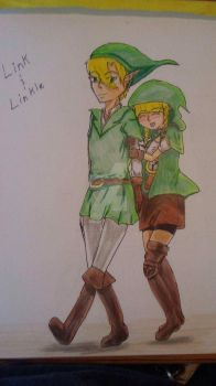 Link and Linkle by Grim-Wolf-Demon