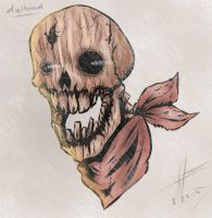 Wooden Skull by DullVivid