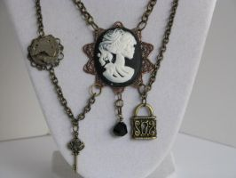"Steampunk ""Lady of Death"" Necklace with  by bcainspirations"