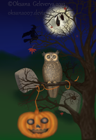 HALLOWEEN OWL by Oksana007