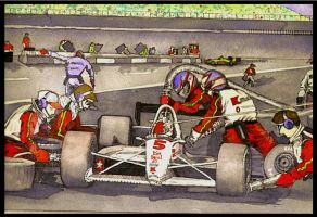 Nigel in the Pits.. by deviantmike423