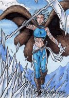 Spellcasters Sketch Card 17 by tonyperna