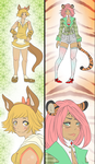 (2/2 OPEN) Points or Paypal- Animal Girls Set 1 by JCs-Adopts