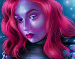Self Portrait - Vibrancy and Colour Study by ChloexBowie