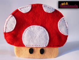 Mushroom cute felt purse by k-irb