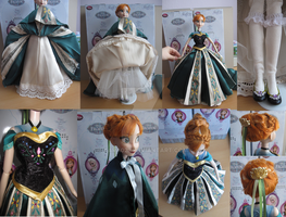 Frozen Anna Coronation custom dress details by kara023
