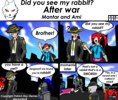 After War Comics Series (Did you see my rabbit?) by MantarWolf