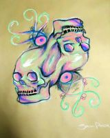 Twisted Skulls by ImpsonGreen
