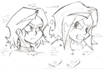 Notes on Izzy's head by ReluctantZombie