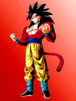 Son Goku SSJ4 by MrZe1598