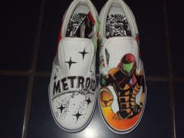 Custom Metroid Shoes by InkyShoes
