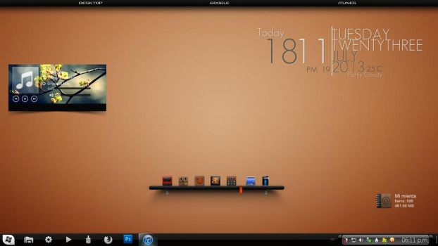 My actual desktop by acg3fly