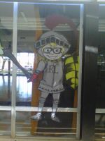 2012 Rio Linda High School Window Art by InkByInk