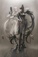Jeanne and Bayonetta by Wolfina by EvilMaybe