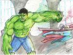 Hulk Punch Thor! by JamileJohnson