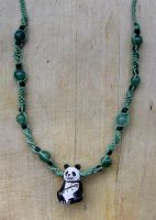 Panda Bear Necklace by johannachambers