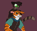 TMNT: TigerClaw and PB by QueenStorm