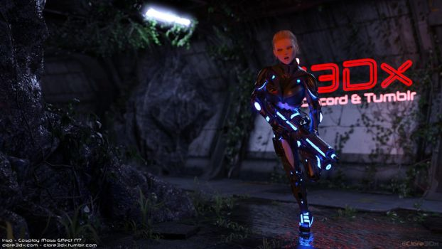Irisa-cosplay-mass-effect-n7-001a by Clare3Dx