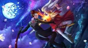 Commission- Astral Sky of Remnant Battle by ARSONicARTZ