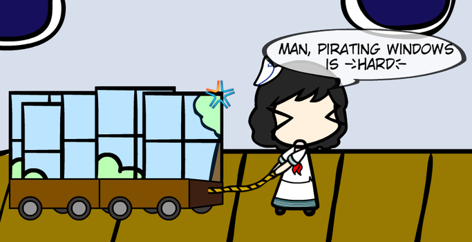 W-A-D (3): Pirating Windows, eh? by HTFCirno2000