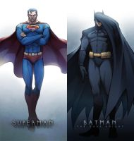 Superman and Batman by NOSSO-codeN