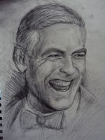 Geoge Clooney Study by MikeBourbeauArt