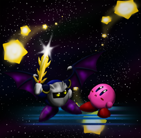 Kirby and Meta Knight by Cryophase
