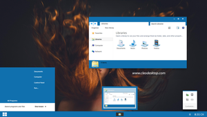Laxi Blue Theme For Windows 7 by cu88