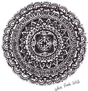 Black And White Mandala by Glochan88