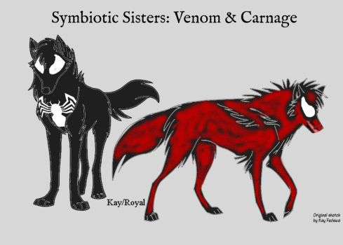 Symbiotic Sisters: Venom and Carnage by JettTheWolf696
