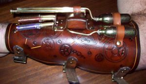 Steampunk Blaster -left- by Steampunked-Out