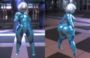 ZeroSuit Silk Test Fit and Render by Rivaliant