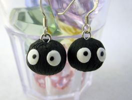 Soot Sprite Earrings by egyptianruin