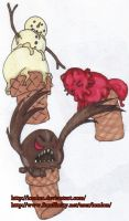 Ice Cream Monsters by Lomlon