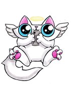 Funny cat adoptable angel by KingZoidLord