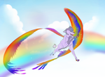 Through the Rainbow- Art Trade by VelociyDrawing17