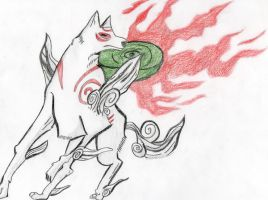 PacDuck Draws: Amaterasu by PacDuck