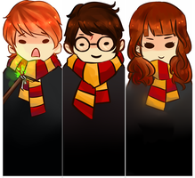 Harry Potter bookmarks by thehairypeach
