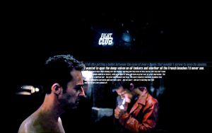 Fight Club - Tyler versus Jack by husane