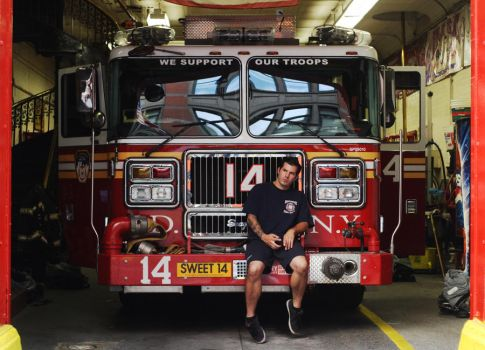 Portrait of a New York City Fireman by michaeldellapolla