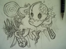 TentacleSugarLandSketch by SneezingJellyfish