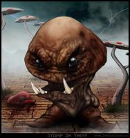 Demented Twisted Goth Goomba by thedarkcloak