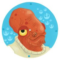 Ackbar Clock Face by TRAVALE